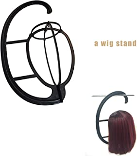 Long Lavy Black Red Hair Mix Color Women Wigs Heat Resistant Synthetic wigs with bangs for Women African American Natural Hair,A wig stand,22inches