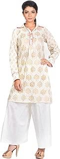 AGNIMITRA PAUL Women's Cotton Shirt Salwar Suit Set