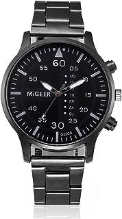 Bokeley Watch, Men's Stainless Steel Sport Quartz Hour Wrist Analog Watch (Black 5)