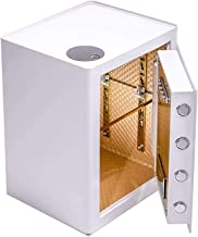 White Fingerprint Safe, with Adjustable Tempered Glass Frame, Used for Cabinet/Office/Commercial/Hotel Home Keyboard Top F...