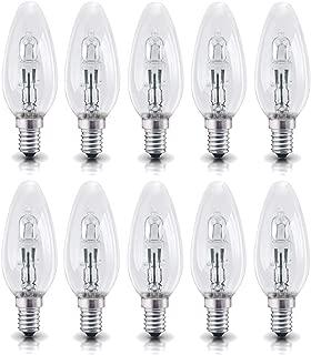 Kerze Eco Halogen Glühbirne 42W = 60W E14 Glühlampe Kerzen B35 warmweiß dimmbar