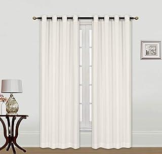 Indoor/Outdoor Solid Cabana Grommet Top Curtain Panel Wide Window Curtain Pair with Grommet Top 2pc 84 95 108 120 inch Win...