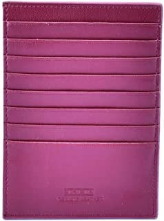 Saga Leather Card and ID Cases for Unisex , Maroon