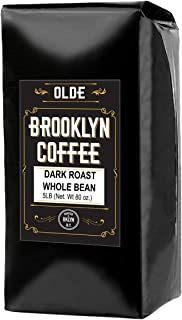 Dark Roast Whole Bean Coffee - 5LB Bag For A Classic Black Coffee, Breakfast, House Gourmet, Italian Espresso- Roasted in New York
