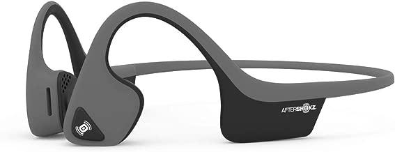 AfterShokz Trekz Air Open Ear Wireless Bone Conduction Headphones, Slate Grey, AS650SG (Renewed)