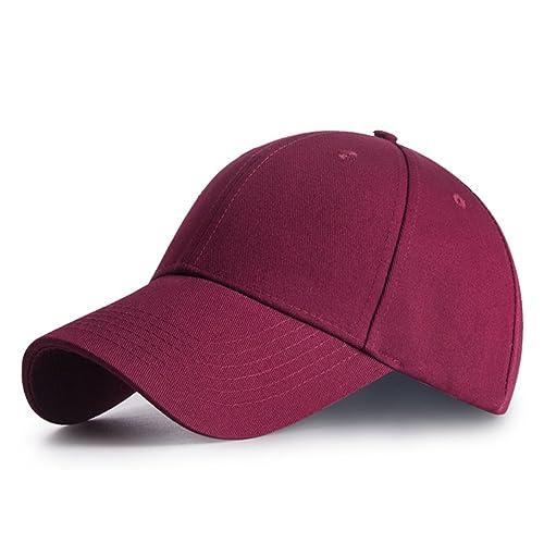 IKuaFly Casquette Baseball Snapback Hip Pop Couleur Unie Ajustable 6  Panneaux Taille Unique Golf Hat Motorcycle a4f433184ec