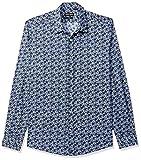 Antony Morato Camicia Ml,abbottonatura A Vista Placchetta Su Polso Camisa Casual, Azul (Marine 7072), X-Small (Talla del Fabricante: 44) para Hombre