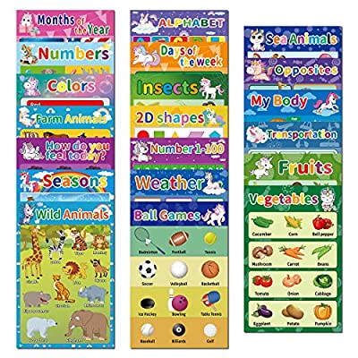 20 Educational Preschool Posters for Kids Toddl...