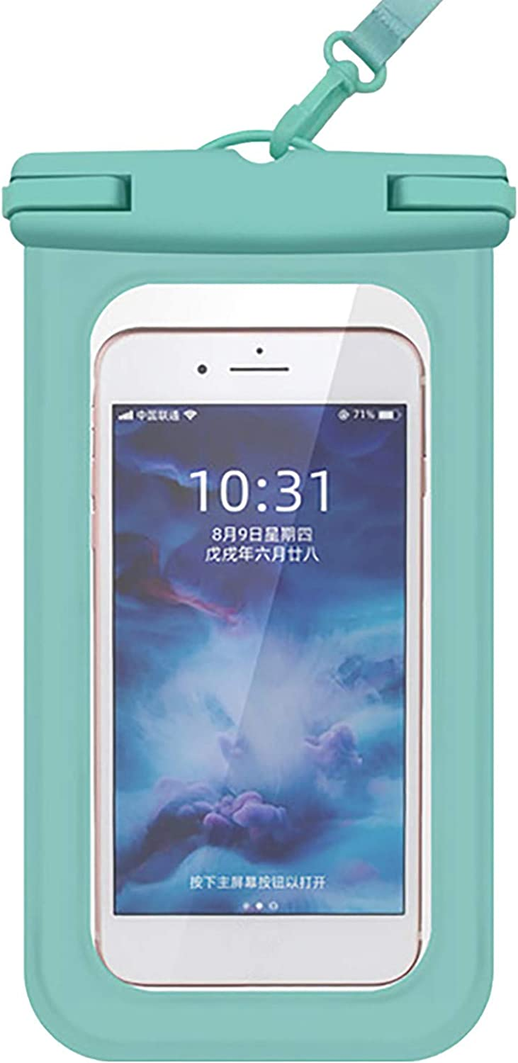 ZHANSANFM Floating Waterproof Phone Case Waterproof Pouch Cell Phone Dry Bag for Phone Green