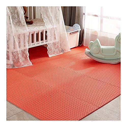 AWSAD Dalles en Mousse Installation Facile Lavable Maison D'intérieur Tapis De Jeu for Bébé, Plusieurs Couleurs, Taille 2 (Color : Red, Size : 60x60x1.2cm 1 Pieces)