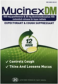 Mucinex DM 12 Hr Expectorant & Cough Suppressant Tablets, 20ct