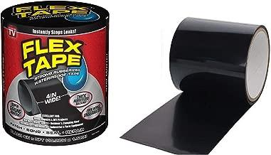 JN-STORE's Rubberized Waterproof Flex Instantly Stops Leaks Sealer Tape (4 Inch X 5 Feet, Black) (Flex Tape)