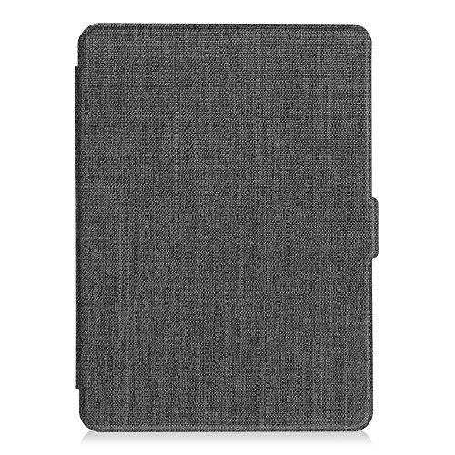 Fintie Hülle für Kindle Paperwhite - Die dünnste und leichteste Schutzhülle mit Auto Sleep/Wake Funktion (Nicht geeignet für das Modell der 10. Generation 2018), Stoff dunkelgrau