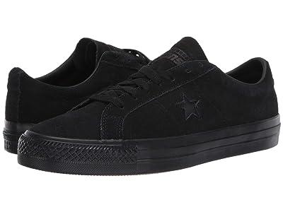 Converse Skate One Star Pro Suede Ox (Black/Black/Black) Men
