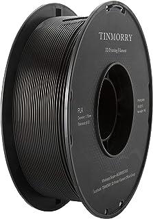 PLA Filament 1.75mm 1kg, TINMORRY PLA Filament 3D Printing Materials for 3D Printer, 1 Spool, Black