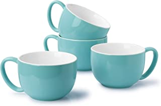 Sweese 613.402 Coffee Mug - 22 Ounce Jumbo Soup Bowl and Cereal Mugs, Set of 4, Turquoise