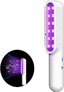 WYING Mini Lampe portative de désinfection, Stérilisateur à lumière UV, Tue 99,9% des germes de bactéries de moisissure, O...