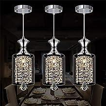 云TAOBeautiful Lighting City/Crystal Chandelier, LED Crystal Chandelier Bar Restaurant Glass Lampshade Creative Personality...