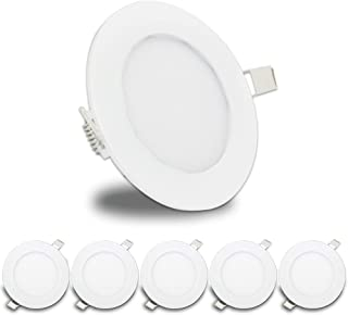 5 Pack Leisure LED RV Boat Recessed Ceiling Light 480 Lumen Super Slim LED Panel Light DC 12V 4.75
