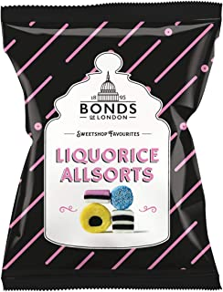 Original Bonds London Liquorice Allsorts Bag Imported From The UK England Assorted Liquorice And Coconut Sweets With Aniseed Flavored Jelly Buttons The Best Of British Candy
