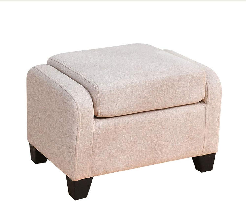 Sofa Stool Change shoes Bench Linen Adjustable Backrest Multi-Function Seat (color   Beige)