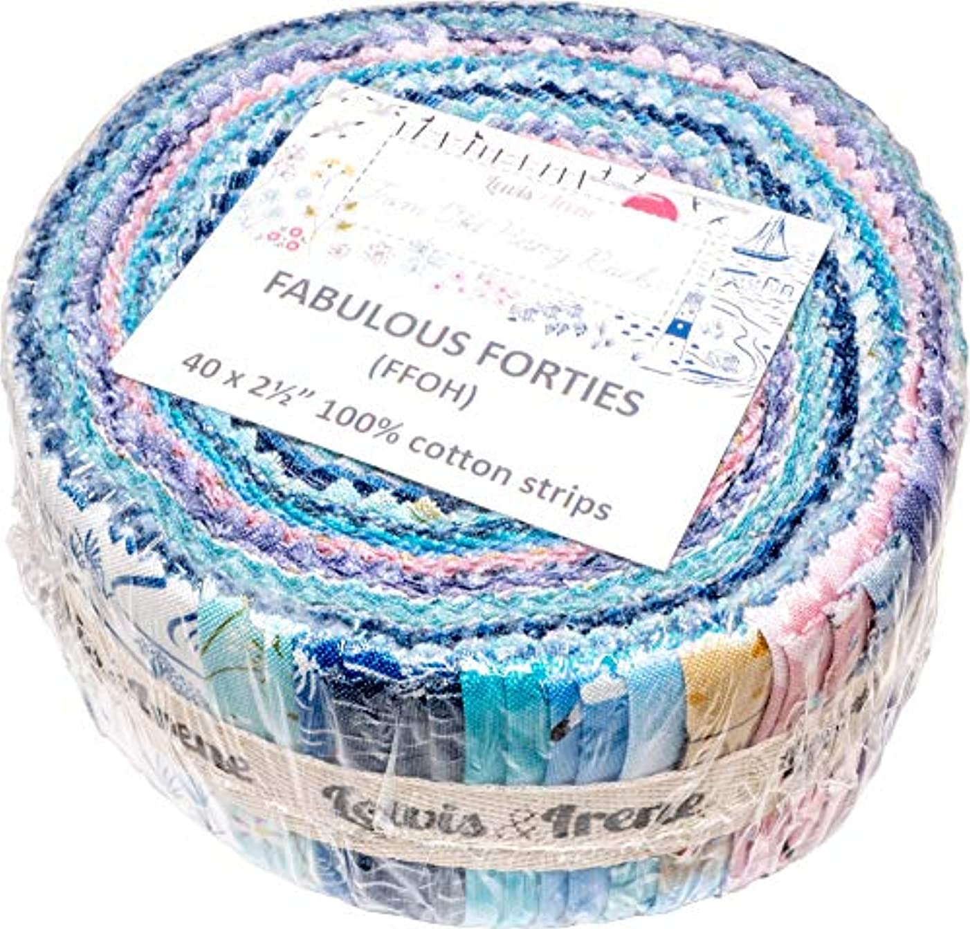 from Old Harry Rocks Fabulous Forties 40 2.5-inch Strips Jelly Roll Lewis & Irene