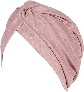 Dubocu Women Muslim Turban Hat Cap Ruched Solid Color Ramadan EidIslamic Head Wrap Soft Comfortable Chemo Cancer Cap Beanie Turban Wrap Cap Mubarak