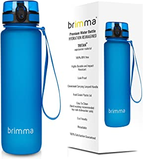Brimma Premium Sports Water Bottle with Leak Proof Flip...