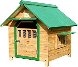Dog Houses Dog Houses Outdoor Dog House Wooden Dog House Dog Houses for Dogs with Door Clearance Large Dog House Four Seas...