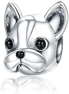 Ciondolo a forma di cane in argento Sterling 925, compatibile con bracciali e collane Style 1