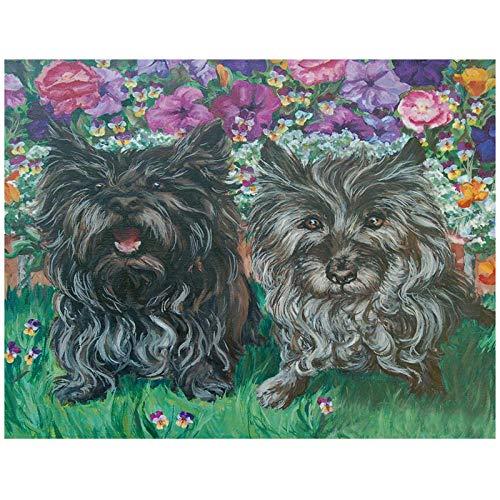 Diamond Painting DIY 5D Cross Stitch Kit Cairn Terrier Dog Mosaic Embroidery Needlework Patterns Kits Art Decor Rhinestone kits-30X40cm