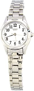 Casio Women's White Dial Stainless Steel Band Watch LTP-1275D-7BDF