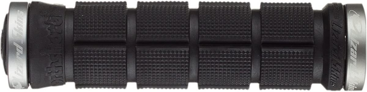 Lizard Skins North Shore Lock On Bicycle Grips /& Bike Tape//Black W// Gray Clamps//