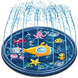 Neteast Outdoor Sprinkler Mat Summer Toys for Kids and Toddlers, 68'' Outside Splash Pad Water Toys...