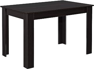 [en.casa] Mesa de Comedor Rectangular 117 x 76 x 74 cm Mesa de Cocina o Salón para 4 Sillas Escritorio Resistente Mesa para Oficina Efecto Nogal Oscuro