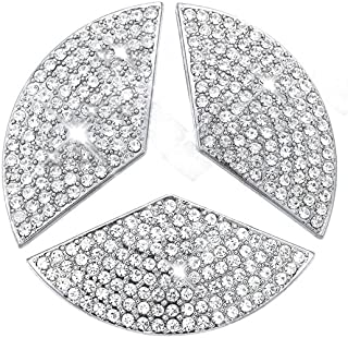 YIKA Car Steering Wheel Decorative Stickers for Mercedes-Benz New C E CLA GLC GLE GLA Class(Diameter 48mm)