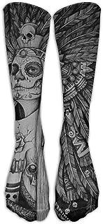 Sugar Skull Tattoo Athletic Tube Medias Mujeres Hombres Clásicos Rodilla Calcetines altos Deporte Calcetín largo Un tamaño