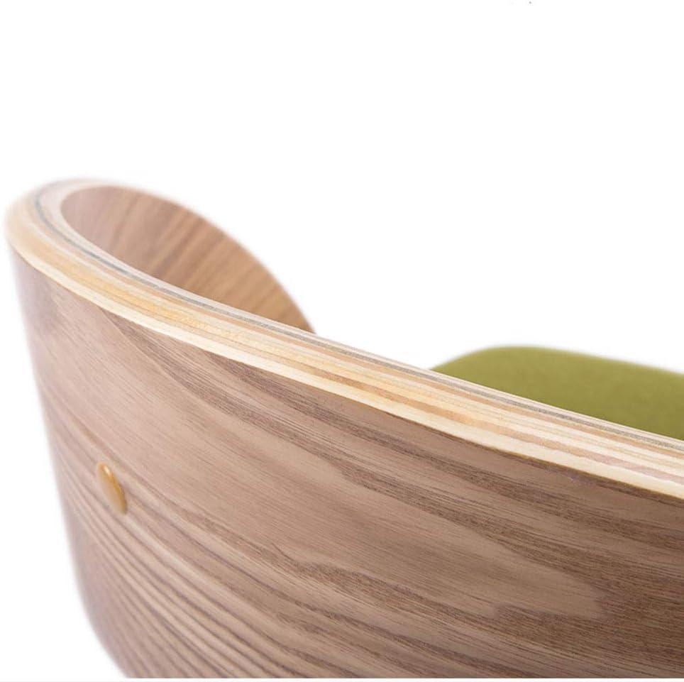 LJFYXZ chaise Dossier courbé Coussin rembourré Cadre en bois massif Forte capacité de charge 5 couleurs 45x73cm (Couleur : Brown) Le Jaune