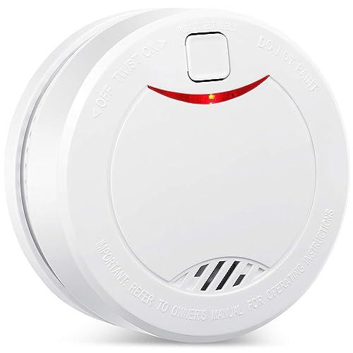 HEIMAN 10 Ans Batterie au Lithium Alarme de Fumée Photoélectrique,Détecteur d'Incendie CE/RoHS/BOSEC certifié avec Silencieux/Essai Mode Détecteur de fumée avec batterie-626PHS (1)