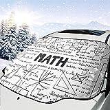 Auto Windschutzscheibe Schnee Sonnenschutz Math Geometry Doodle Auto Frontfenster Sonne Schneeschattenschutz Fahrzeug Windschutzscheibe Sonnenlicht Sonnenschutz Abdeckung