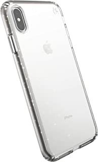 Speck iPhone Xs Max Presidio Clear + Glitter Case, Scratch-Resistant IMPACTIUM 8-Foot Drop Protected iPhone Case That Resi...