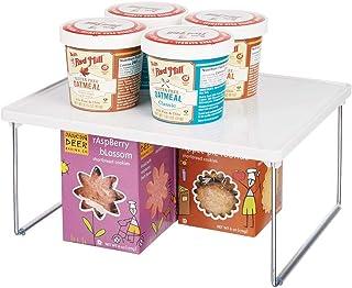 mDesign Platero de cocina – Estante para platos para la encimera y los armarios de la cocina – Accesorio organizador de co...