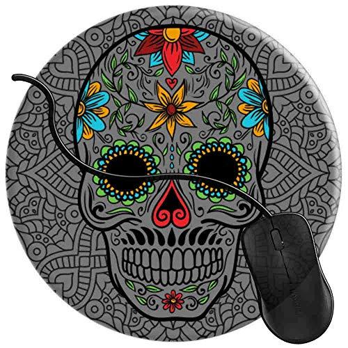 QCFW Alfombrilla de Ratón Sugar Skull For Skull Decor Lover Alfombrilla de Ratón Ordenador Gaming Superficie Suave 2T2148