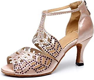 SWDZM Womens Standard Latin Dance Shoes,Salsa,Performance,Dancing Shoes Ballroom Model-YCD5