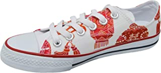 Ish Original Official Women Marriage Double Happiness Low Top Rubber Sole Casual Canvas Sneakers Shoes