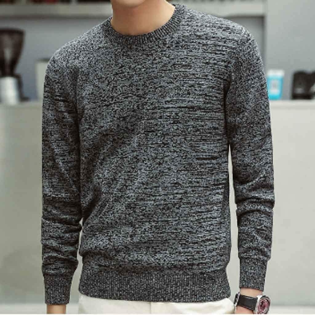 ZYING Men Sweaters Autumn Winter Fashion Casual Slim Fit Cotton Knitted Mens Sweaters Pullovers Men Knitwear (Color : XL Code)