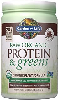 Garden of Life Raw Organic Protein & Greens Chocolate - 20 Servings, Vegan Protein Powder for Women and Men, Juiced Greens...