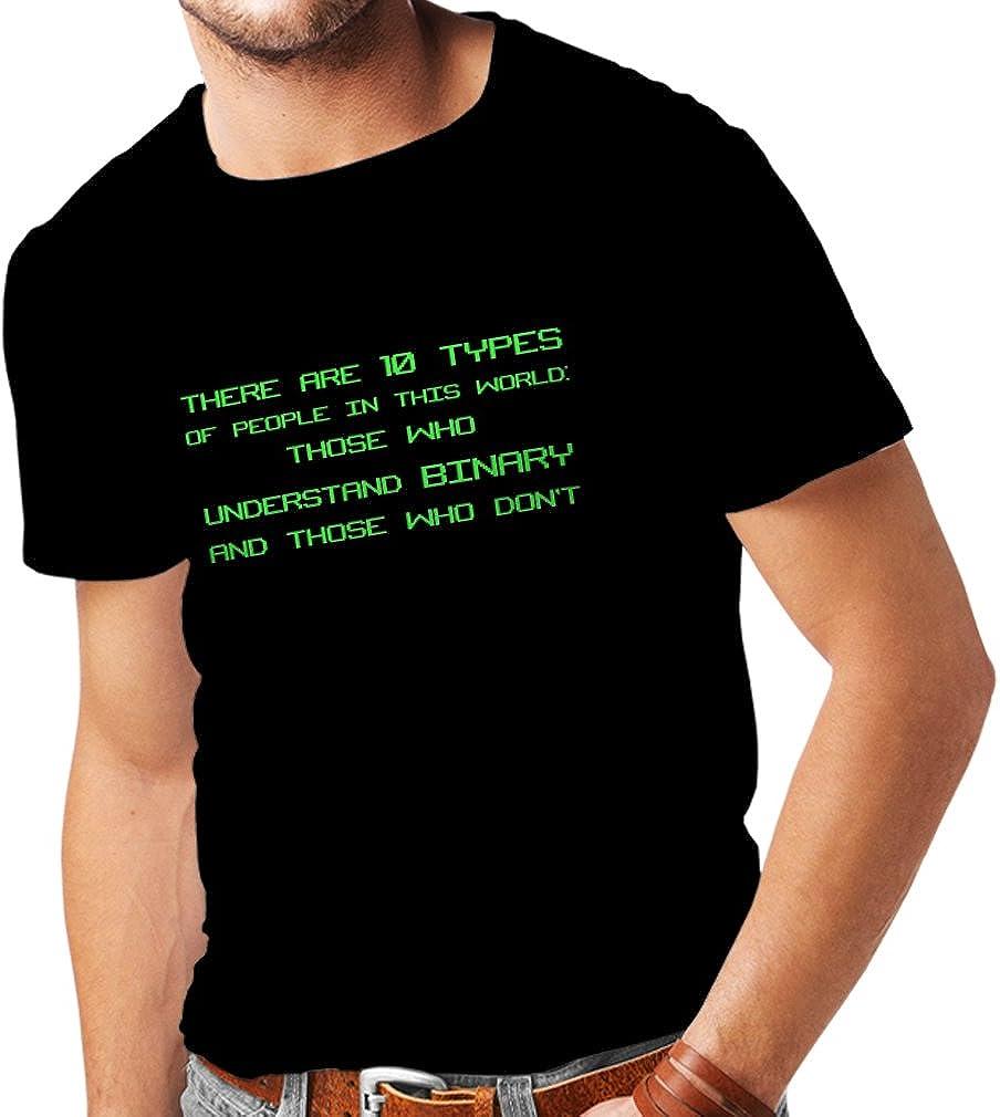 lepni.me Camisetas Hombre Tipos de Personas Que Entienden el código Binario, Chistes de programadores