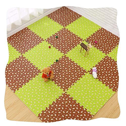 YANGJUN Puzzle Tapis Mousse Bébé Antidérapant Doux Imperméable Protection Facilité Fleur Point De Vague, 5 Combinaisons (Color : D, Size : 30x30x1.2cm-32pcs)