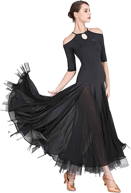 Modernes Tanzkleid für Frauen Kleider Modern Walzer Tanzkostüme Damen Charmant Swing Moderne Tanzkleider